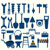 Ícone do azul das ferramentas de funcionamento Fotografia de Stock