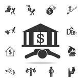 Ícone do banco Grupo detalhado de ícones do elemento da finança, da operação bancária e do lucro Projeto gráfico da qualidade sup ilustração royalty free