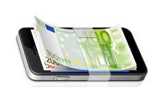 ícone do banco móvel Foto de Stock Royalty Free