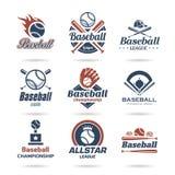 Ícone do basebol ajustado - 2 Fotografia de Stock