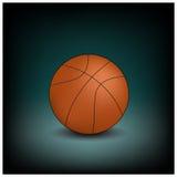 Ícone do basquetebol do vetor em um fundo escuro Imagens de Stock Royalty Free