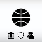 Ícone do basquetebol, ilustração do vetor Estilo liso do projeto Imagem de Stock