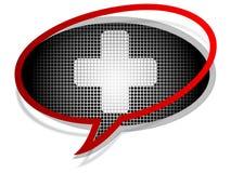 Ícone do bate-papo da ajuda Fotografia de Stock Royalty Free