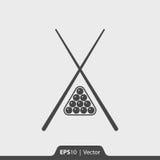 Ícone do bilhar para a Web e o móbil Imagens de Stock Royalty Free