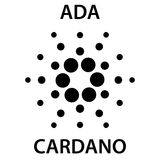 Ícone do blockchain do cryptocurrency de Cardano Dinheiro virtual eletrônico, do Internet ou símbolo do cryptocoin, logotipo Fotos de Stock Royalty Free