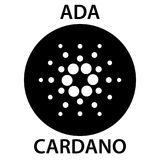 Ícone do blockchain do cryptocurrency de Cardano Dinheiro virtual eletrônico, do Internet ou símbolo do cryptocoin, logotipo Fotos de Stock