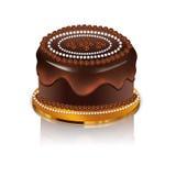 Ícone do bolo de chocolate Imagens de Stock Royalty Free