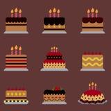 Ícone do bolo para o partido de Dia das Bruxas Fotos de Stock Royalty Free