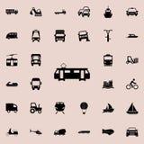 Ícone do bonde Transporte o grupo universal dos ícones para a Web e o móbil ilustração do vetor
