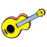 Ícone do brinquedo da guitarra, estilo dos desenhos animados ilustração do vetor