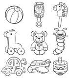 Ícone do brinquedo do bebê dos desenhos animados da tração da mão Foto de Stock Royalty Free