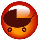 Ícone do buggy ou do carrinho de criança de bebê Fotos de Stock Royalty Free