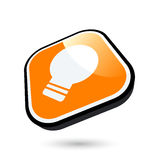 Ícone do bulbo ilustração stock