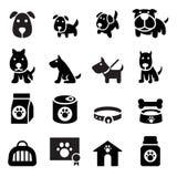 Ícone do cão ilustração royalty free