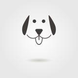 Ícone do cão com sombra ilustração royalty free