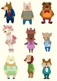 Ícone do cão dos desenhos animados Imagens de Stock Royalty Free