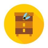 Ícone do círculo da colmeia da abelha do mel Fotografia de Stock