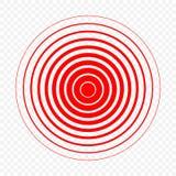 Ícone do círculo da dor Fotografia de Stock Royalty Free