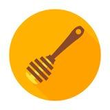 Ícone do círculo da vara do mel Foto de Stock Royalty Free