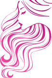 Ícone do cabelo Foto de Stock Royalty Free