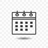 Ícone do calendário com sombra Fotografia de Stock