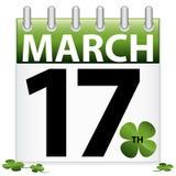 Ícone do calendário do dia do St. Patrick Fotos de Stock