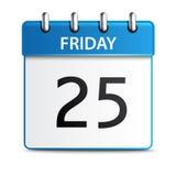 Ícone do calendário do vetor Foto de Stock