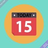 Ícone do calendário - ilustração do vetor Projeto liso Imagem de Stock