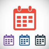 Ícone do calendário, ilustração do vetor Projeto liso Imagens de Stock Royalty Free