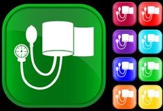 Ícone do calibre da pressão sanguínea Imagens de Stock