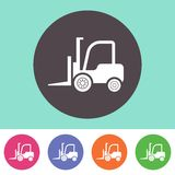 Ícone do caminhão de empilhadeira Imagem de Stock