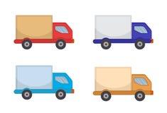 Ícone do caminhão de entrega, estilo liso Caminhão, isolado no fundo branco Ilustração do vetor, clipart ilustração do vetor