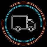 Ícone do caminhão de entrega isolado ilustração royalty free