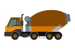 Ícone do caminhão do misturador concreto Fotografia de Stock Royalty Free