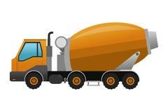Ícone do caminhão do misturador concreto Fotografia de Stock