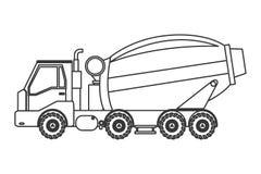 Ícone do caminhão do misturador concreto imagens de stock