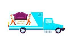 Ícone do caminhão do frete da entrega da mobília ilustração royalty free