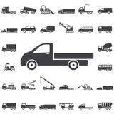 Ícone do caminhão no branco ilustração do vetor