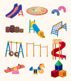 Ícone do campo de jogos do parque dos desenhos animados ilustração royalty free