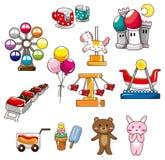 Ícone do campo de jogos dos desenhos animados Fotografia de Stock Royalty Free