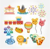 Ícone do campo de jogos dos desenhos animados Imagem de Stock