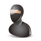 Ícone do caráter de Ninja Imagens de Stock Royalty Free