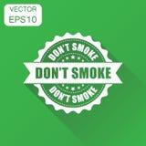Ícone do carimbo de borracha do fumo do ` t de Don Selo não fumadores do conceito do negócio ilustração do vetor