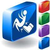 Ícone do carregador 3D ilustração stock