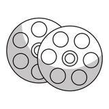 Ícone do carretel de película ilustração do vetor