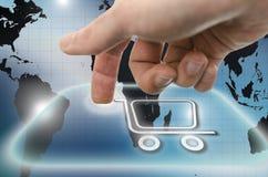 Ícone do carrinho de compras Imagem de Stock