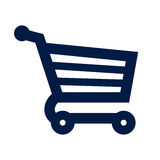 Ícone do carrinho de compras Fotografia de Stock