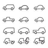Ícone do carro Imagens de Stock