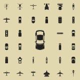 Ícone do carro desportivo Transporte a vista de cima do grupo universal dos ícones para a Web e o móbil ilustração stock
