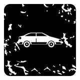 Ícone do carro, estilo do grunge ilustração stock